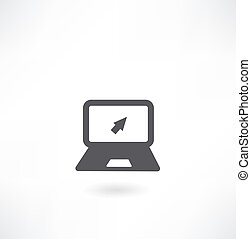 Laptop with arrow icon