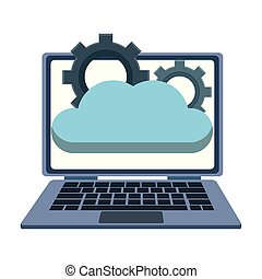 Laptop with cloud computing
