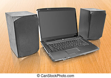 laptop with computer speakers