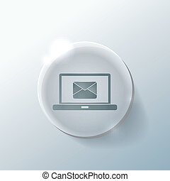 laptop with letter envelope