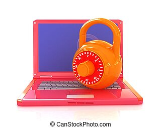Laptop with lock