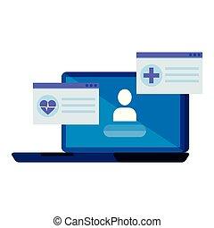 laptop with telemedicine service
