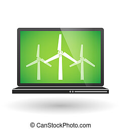 Laptop with wind generators
