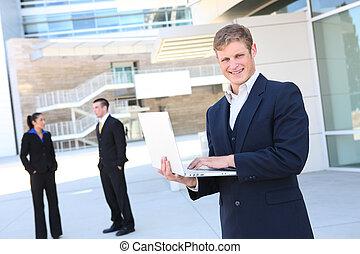 laptopdator, affärsman