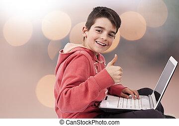 laptopdator, barn