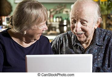 laptopdator, par, senior