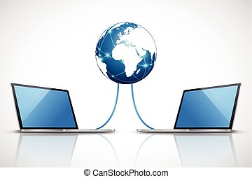 Laptops connected to the internet