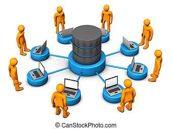 laptops, manikins, databank