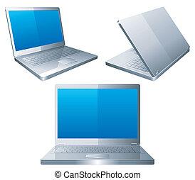 Laptops. - Set of 3 laptops.