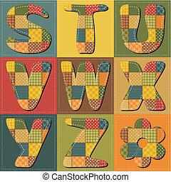 lapwerk, plakboek, alfabet