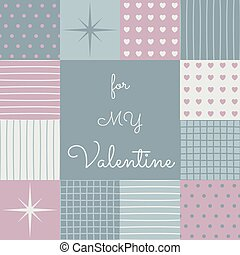 lapwerk, valentines, middle., oppervlakte, mal, dag, sensueel