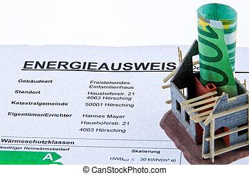 lar, austria., carcaça, energiepaa., certificação