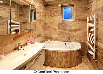 lar, banheiro, mobília, luxo, banho