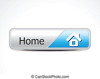 lar, botão, vetorial, abstratos, lustroso