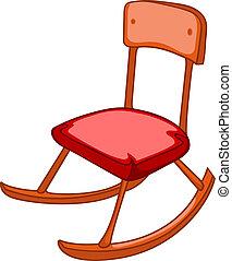 lar, cadeira, caricatura, mobília