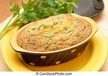 lar, casserole, com, queijo, e, ervas