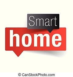lar, coisas, -, esperto, internet