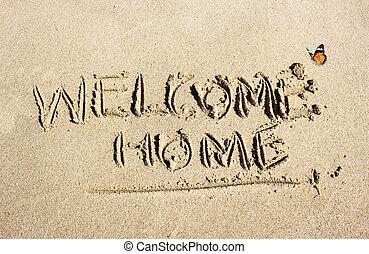 lar, conceito, bem-vindo