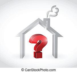 lar, desenho, pergunta, ilustração, marca