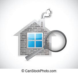 lar, inspeção, conceito, ilustração