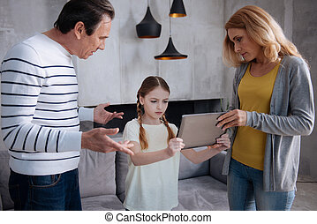 lar, interessado, pais, upbringing, criança
