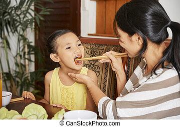 lar, jantar, comer, família