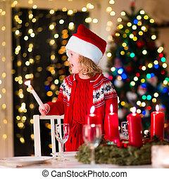 lar, jantar, natal, família, criança