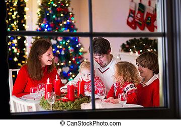 lar, jantar, natal, família