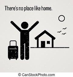 lar, lá, lugar, semelhante, não