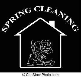 lar, limpo, primavera