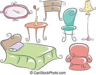 lar, mobília