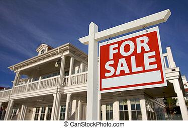 lar, novo, sinal, venda, &