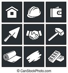 lar repara, jogo construção, ícones