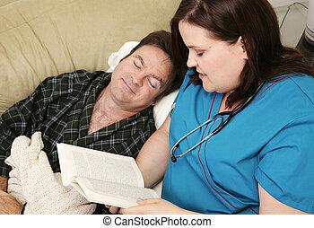 lar, saúde, -, adormecido