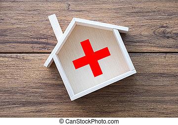 lar, saúde, doce, lar, cuidado saúde, e, medicina