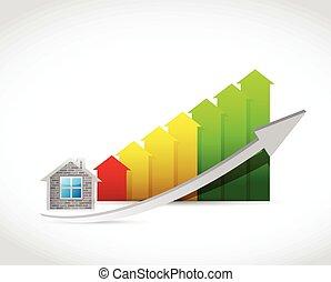 lar, seta, cima, ilustração, gráfico