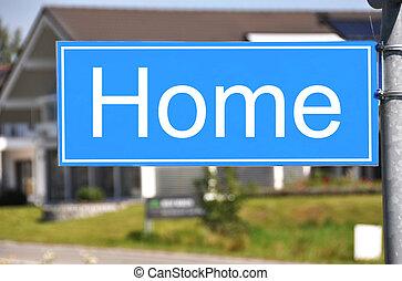 lar, sinal, contra, casa