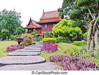 lar, tailandês, estilo