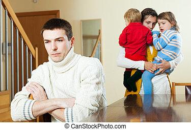 lar, tendo, família, disputa