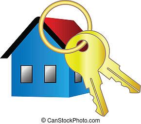 lar, vetorial, ícone chave