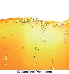 laranja, água, vetorial