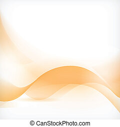 laranja, abstratos, fundo, onda
