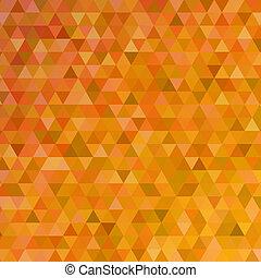 laranja, abstratos, triângulos, fundo