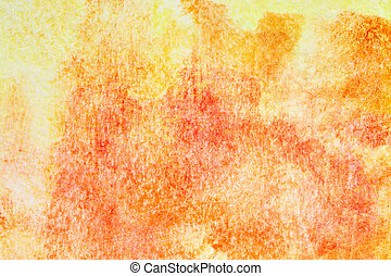 laranja, aquarela, hand-drawn, fundo