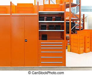 laranja, armazém