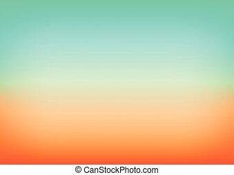 laranja, azul, gradiente, fundo