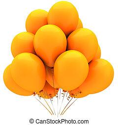 laranja, balões