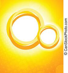 laranja, círculos, fundo