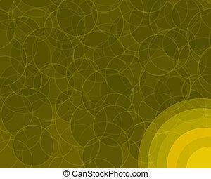 laranja, círculos, retro, fundo