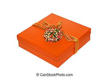 laranja, caixa